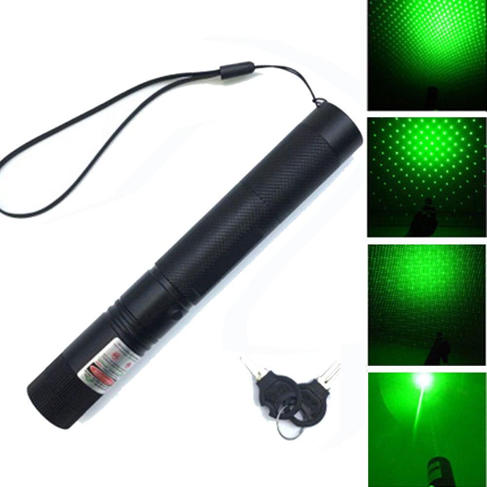 Caça 8000m 532nm visão laser verde alta poderosa foco ajustável lazer com laser 303 ponteiro + carregador 18650 bateria azul vermelho