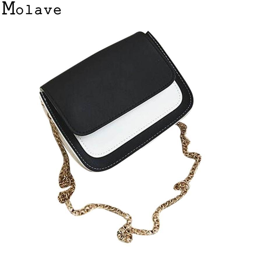 Molave  Fashion Women Leather Chain Handbag Crossbody Shoulder Bag Messenger Phone Bag women's handbags bag female 2017Nov17