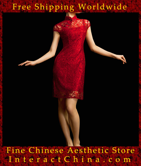 42a2ac4403 Chinese Cheongsam Qipao Gown Vintage Cocktail Dress Asian Fashion Chic   107-in Evening Dresses from Weddings   Events on Aliexpress.com
