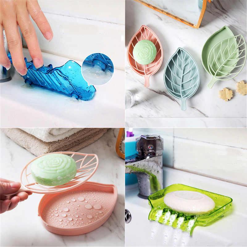 1 Pcs Plastik Berkualitas Tinggi Kamar Mandi Sabun Piring Pemegang Resuable Sederhana Desain Air Terjun Sabun Nampan Kotak Drain Pemegang Gratis Pengiriman