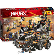 лучшая цена 2019  Ninjagoed Heavy Hunted Dragon Truck Model Building Blocks Bricks educational Toys for Children Boys Gifts
