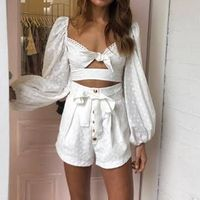 2019 Women White Playsuits Designer Embroidered Jumpsuits