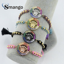 5Pieces The Rainbow Series, Women Fashion Crown Shape Bracelet,4 Colors,Can Mix,Can Wholesale