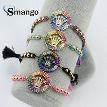 5Pieces The Rainbow Series, Women Fashion Crown Shape Bracelet,4 Colors,Can Mix,Can Wholesale