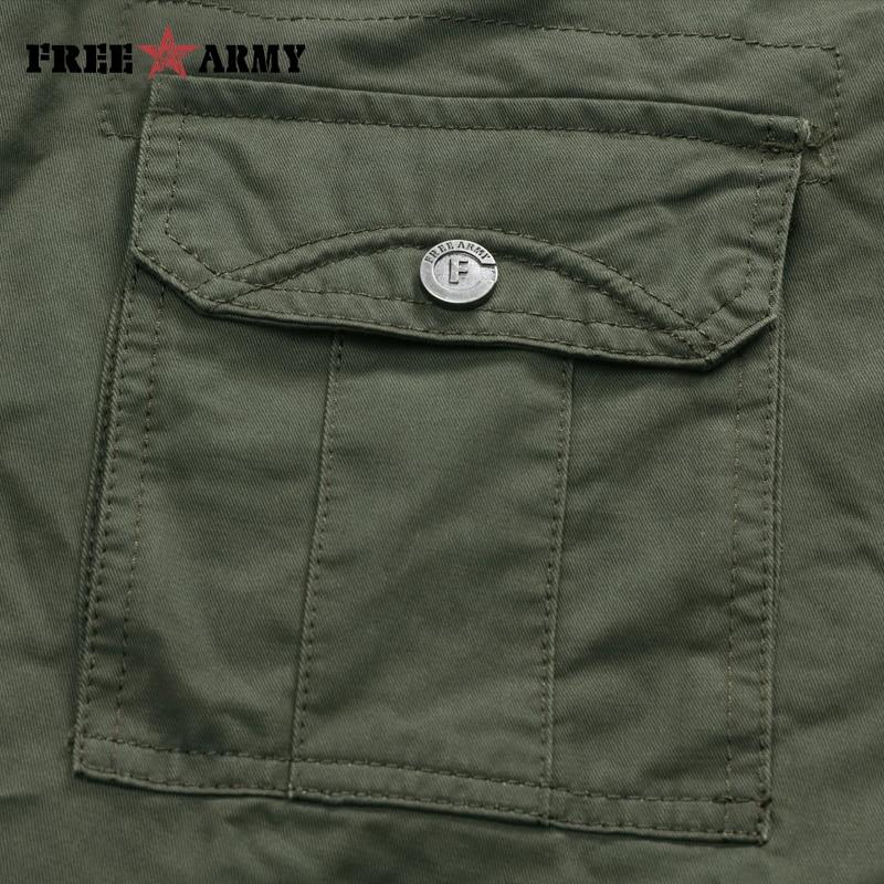Znamka vojaške vojske zelene moške hlače 2018 novo bombažne - Moška oblačila - Fotografija 6
