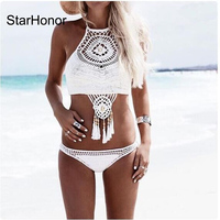 New Hot Knitting Bikini Brazilian Biquini Swimsuits Push Up Swimwear Women Sexy Bikinis Set Bathing Suit