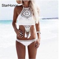 StarHonor Yeni Sıcak Örgü Bikini Brezilyalı Biquini Mayolar Push Up Mayo Kadınlar Seksi Bikini Set Swim suit maillot de ba