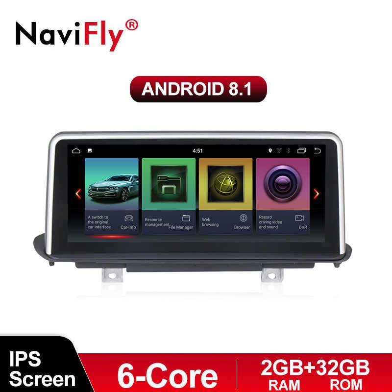 Navifly Автомобиль Радио DVD gps для BMW X5 F15 2014-2017 с Android8.1 ips экран 6 ядерный процессор 2G Оперативная память + 32G Встроенная память автомобильные аксессуары
