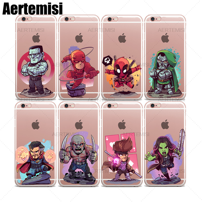 Nice Aertemisi Clear Tpu Case Cover For Iphone X Xs Max Xr Captain Marvel Carnage Colossus Daredevil Deadpool Doctor Doom Strange For Fast Shipping Phone Bags & Cases Fitted Cases