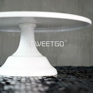 Image 3 - SWEETGO Grand Baker soporte para pastel, 12 pulgadas, herramientas de boda blancas, molde para Fondant, suministros de decoración de cupcakes, mesa de postre