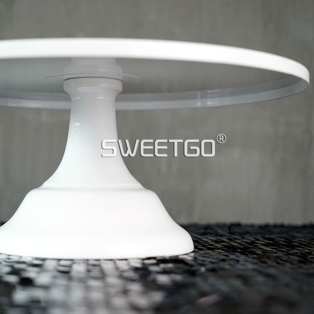 SWEETGO Grand baker cake stand 12 inch white wedding cake tools fondant bakeware cake decorating supplies dessert table pops