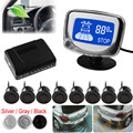 8 Rear Front View Car Parking Sensors Universal Auto Vehicles Reverse Backup Radar Kit System LCD Display Monitor