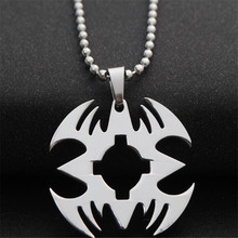 new creative mens stainless steel superman pendant necklace bead chain sweater necklace for women charm choker fashion jewelry