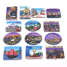 (5 pieces / lot)Hong Kong World Tourism Memorial Creative Three-dimensional Resin Fridge Magnet цена