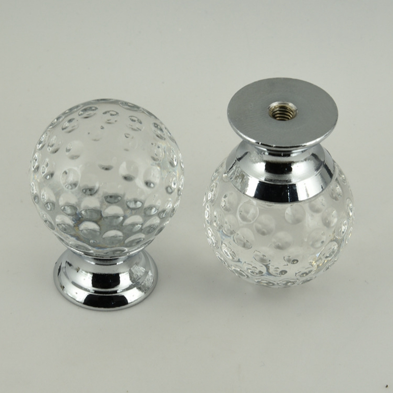 3pcs Crystal glass drill Kitchen Drawer Cabinet Door Handle Furniture Knobs Hardware Cupboard handle