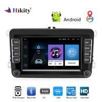 Hikity 2 дин стерео радио 7 ''Android gps навигации HD Авторадио MP5 мультимедийный плеер ISO/Android Зеркало Ссылка для Автомобили VW