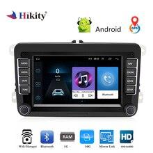 Hikity 2 Din Автомобильная Стереосистема радио 7 »Android gps навигации HD Авто MP5 мультимедийный плеер ISO/Android Зеркало Ссылка для Автомобили VW