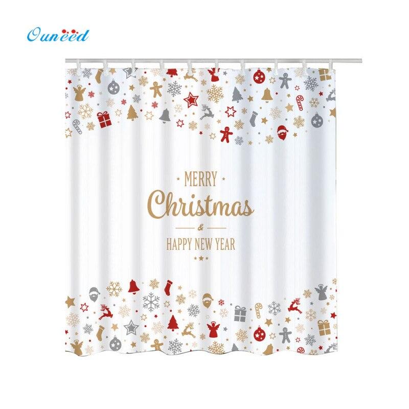 Hohe Qualität Duschvorhang Weihnachten Wasserdicht Bad Kühlen ...