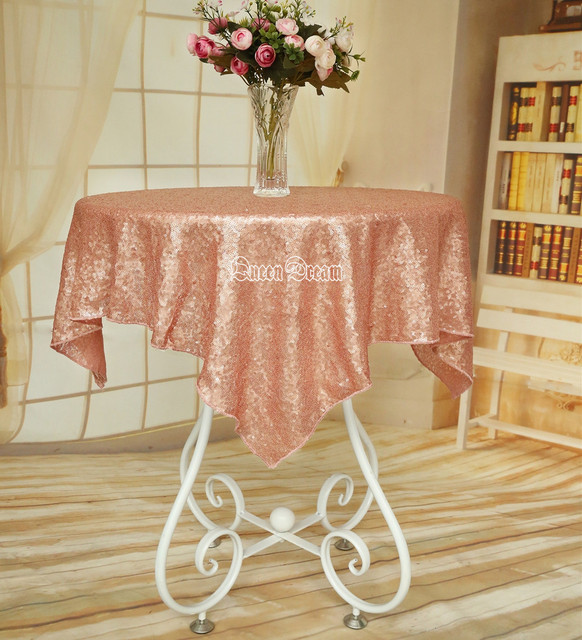 Beau Best Selling Blush Sequin Tablecloth 50 Inches Round Sequin  Party/Prom/Christmas Table Cover