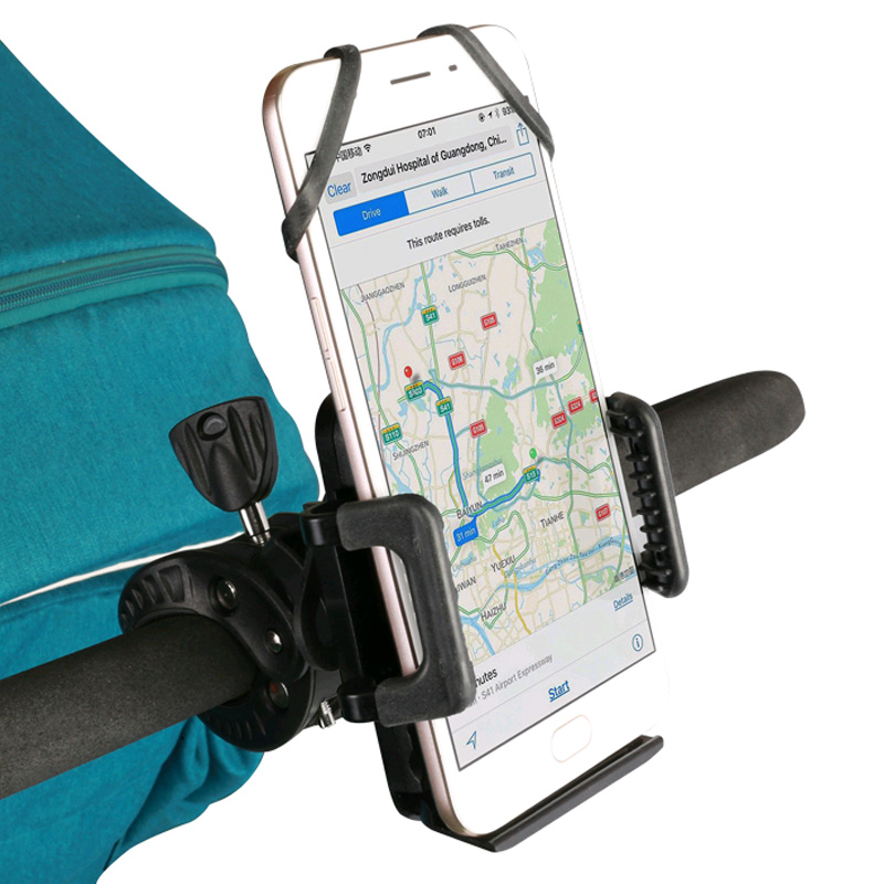 Stroller/Mobile/Phone/Holder Mobile Phone Mount anti-slip 360/°rotated which is Easy to Fit to your Pram//Pushchair//Buggy.