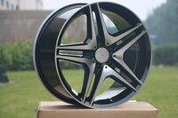 4 Новые 19x8.5/19x9.5 straggered Диски колеса для Mercedes Benz Черный AMG + 35 мм w828