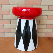 Creative Round Stool Ceramic Dressing Stool Art&Craft Leisure Chair Stool Mall Commercial Home Decoration L3374(China)