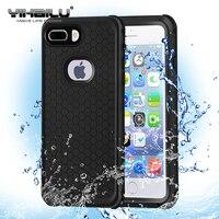 Caso à prova d' água Para iPhone 8 Plus Híbrido Natação Mergulho Água Tampa À Prova de choque Casos de Telefone de Esqui Ao Ar Livre Para o iphone 8 além de