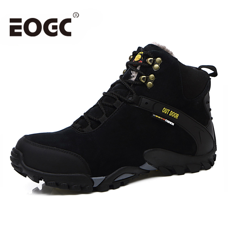 Winter Waterproof Mens Snow boots Super Warm suede leather men Boots Fashion Rubber Men Ankle Autumn winter outdoor shoes