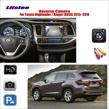 Liislee Car Reverse Rear View Camera For Toyota Highlander / Kluger 2013~2016 Connect Original Factory Screen RCA Adapter
