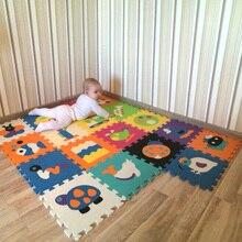 Детские мягкие для развития подвижности ковры, детские игры головоломки Номер/письмо/мультфильм мат из поролона «Ева», pad пол для игр 30*30*1 см