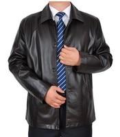 2016 nowy Casual męskie kurtki skórzane Marki mężczyzn lokomotywa Skórzany płaszcz marka mężczyźni skórzana kurtka M-3 xl czarny darmowa wysyłka