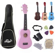 IRIN 21 Inch Ukulele Beginners Children Christmas Gifts Hawaii Four String Guitar + String + Pick