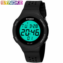 SYNOKE Ultrathin Unisex Electronic LED Digital Sports Waterproof Women
