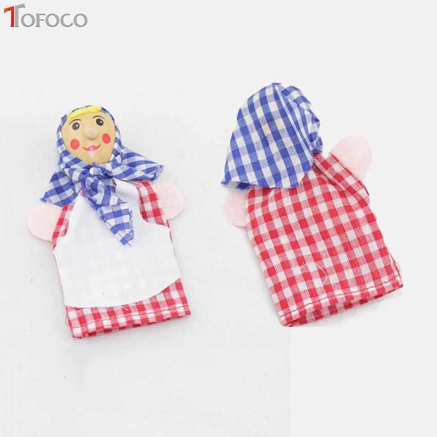 TOFOCO 6 adet/takım Aile Parmak Kuklaları Hikaye Anlatma oyuncak bebekler Çocuklar Için Bebek Eğitici Oyuncaklar Rahip Korsan Doktor Çiftçi