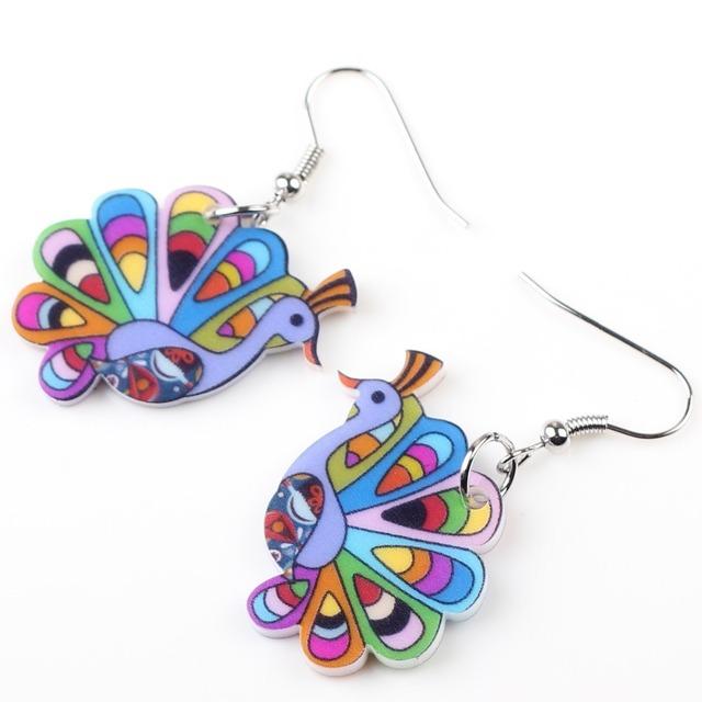 Drop Peacock Earrings