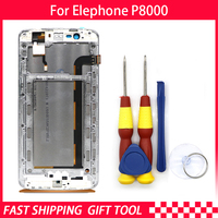New original For Elephone P8000 Touch Screen LCD Display Digitizer Assembly With Frame Replacement Parts+Tool Android 5.1