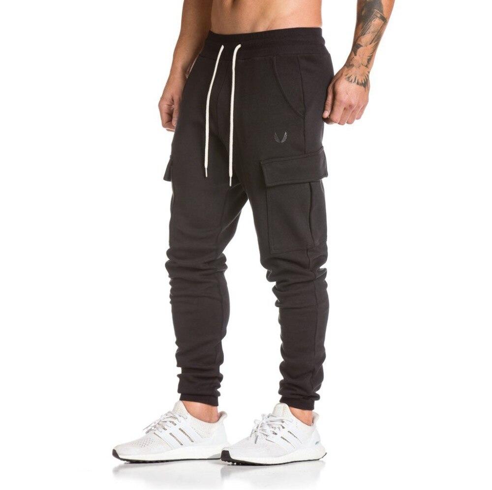 2018 nouveau gym hommes pantalons de course respirant Camping en plein air mince Skinny Sports Jogging football formation pantalon pantalon