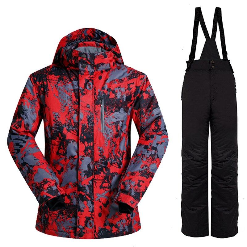 Nouvelle combinaison de Ski en plein air hommes coupe-vent imperméable thermique Snowboard neige mâle veste de Ski et pantalons de Ski ensembles Skiwear vestes d'hiver