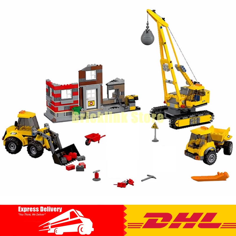 Lepin 02042 869pcs City Series Building Demolition Site 60076 Set Educational Building Blocks Bricks DIY Toy for Children Gift feel and find fun building site
