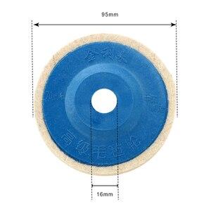 Image 2 - LEEPEE 10pcs/set Buffing Angle Grinder Wheel Felt Wool wheel Polishing Disc Pad Set 9.5cm Wool Polishing Pads