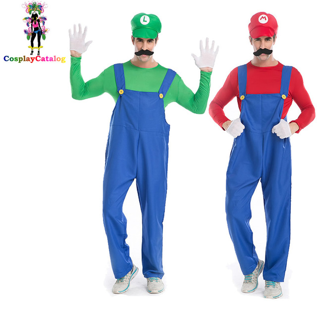 Adults Man and Kids Super Mario Bros Cosplay Costume Set Children Boy Halloween Party MARIO u0026  sc 1 st  AliExpress.com & Adults Man and Kids Super Mario Bros Cosplay Costume Set Children ...