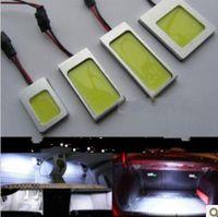 1pcs 12V White 8W LED Car Interior COB LED Panel T10 COB Chip Festoon Dome T10