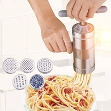 5 Mode Stainless Steel Pasta Noodle Made Machine Handmade Healthy Noodles Press Spaghetti Machine Vegetable Fruit Noodles Tool