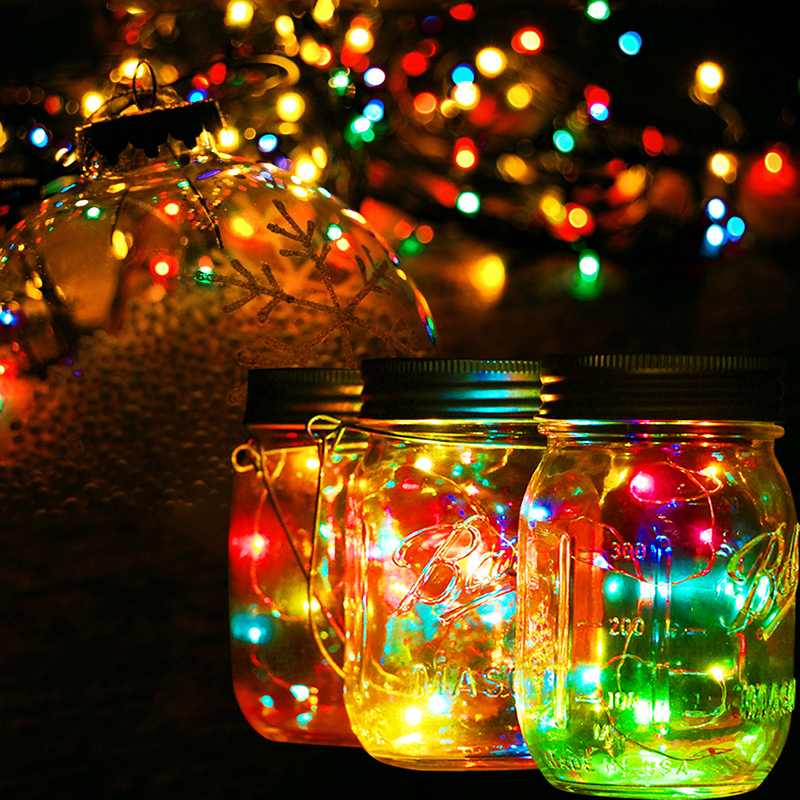 Lovely Solar Lid Light Wholesale Part - 9: New 1Pc Christmas Gifts Decor Solar Mason Jar Lid Insert With Colorful LED  Light For Glass