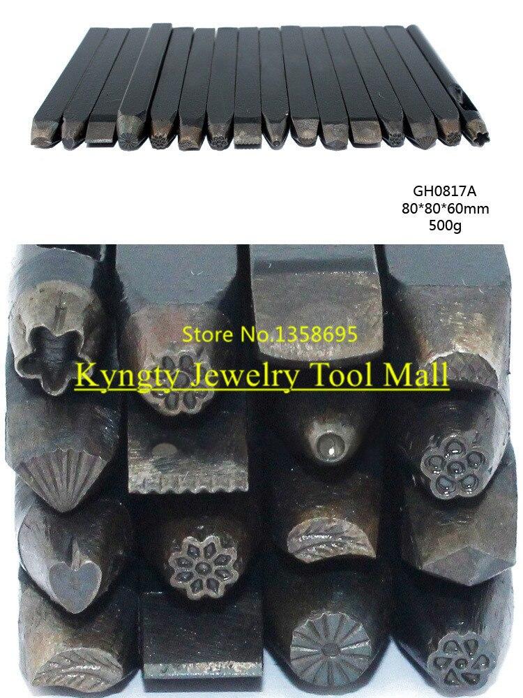 Bijoux sculpté fleur temporairement doré enclume ciseau équipement pour bricolage sculpté à la main bijoux orfèvrerie outils