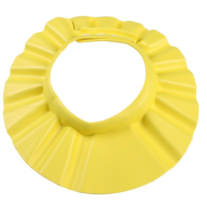 Регулируемые Детские шапки для мальчиков и девочек шампунь шторы для ванной шапочка для душа колпак мыть Водонепроницаемый волос щит - Цвет: Цвет: желтый