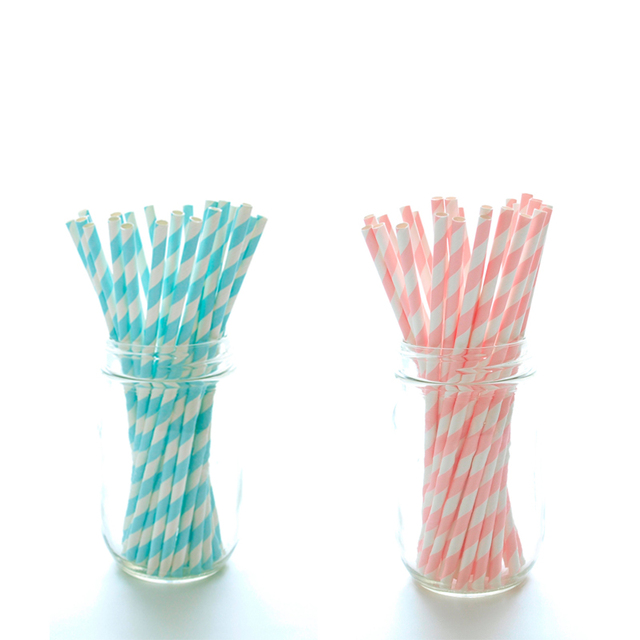 100pcs Sweet Pink Blue Stripped Paper Straws For Birthday Wedding Baby Shower Baptism  sc 1 st  AliExpress.com & 100pcs Sweet Pink Blue Stripped Paper Straws For Birthday Wedding ...