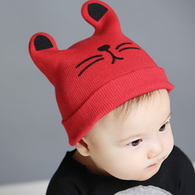 [DINGDNSHOW] 2019 Fashion Beanies Hat Kids Cotton Warm Winter Cap Cartoon Knitted Hat Lovely Ear Bonnet Hat Baby Boys and Girls new fashion cute winter ear cap warm wool knitted beanis hat for baby girls boys apparel accessories gorro masculino 7z