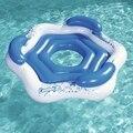 3-местная круглая надувная поплавок для вечеринок с 3-чашечками для бассейна  поплавки для водной езды  игрушки для бассейна  Веселый плот