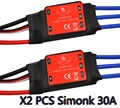 2pcs Simonk 30A Brushless 450 helicopter multicopter Motor Speed Controller ESC
